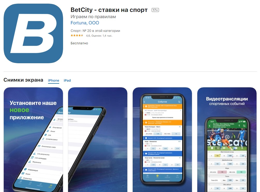 БетСити - обзор букмекерской конторы